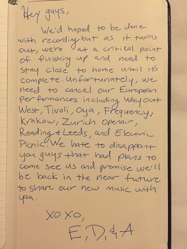 Haim Cancel European Tour To Finish New Album