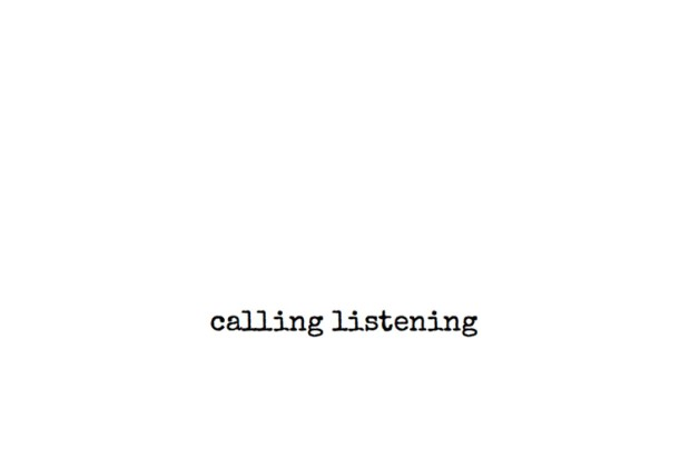 "Rosemary Fairweather – ""Calling Listening"""