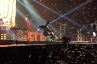 Watch Gene Simmons Fall On His Ass At Last Night's KISS Show