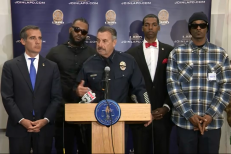 LAPD Press Conference With The Game And Snoop Dogg