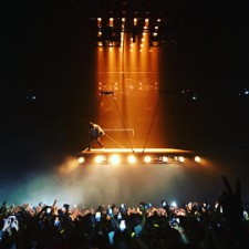 Kanye Hovers Above The Audience At Tour Kickoff