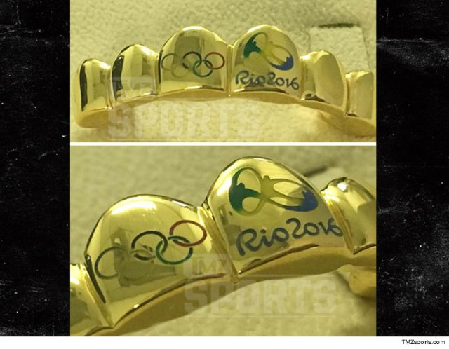 Gold Olympic grills