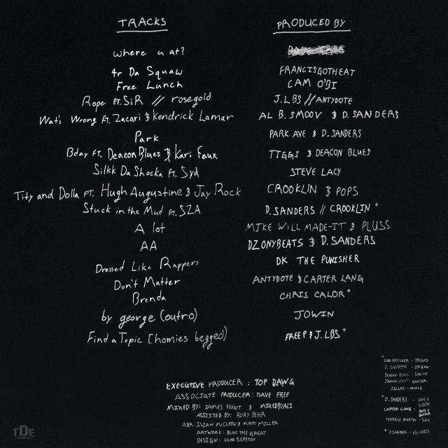 Isaiah Rashad Tracklist