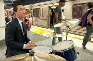 Watch Joseph Gordon-Levitt Play Drums On Subway Platform For Some Reason