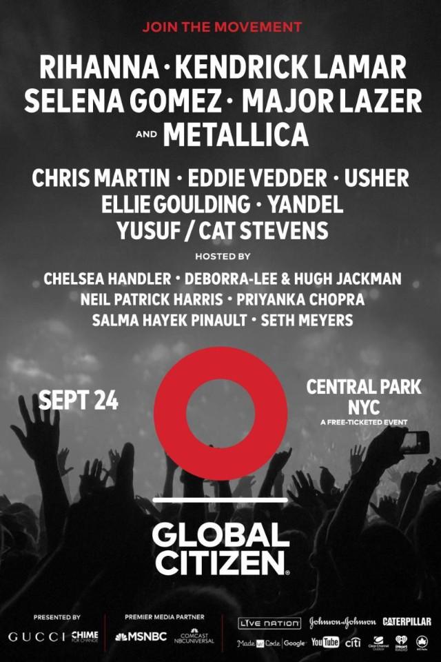 Livestream Global Citizen Festival 2016