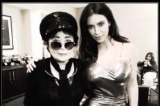 Yoko Ono & Kim Kardashian