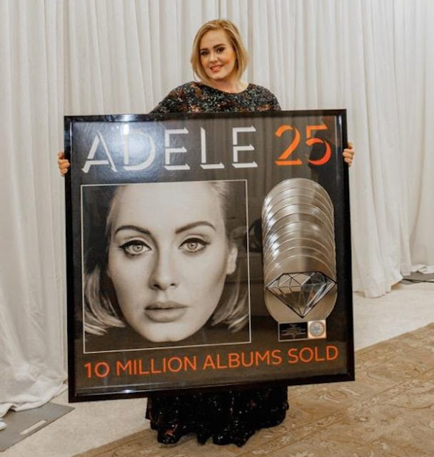 Album Diamond: Adele's 25 Certified Diamond