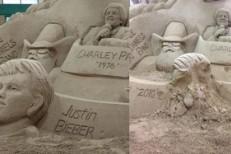 Bieber Sculpture