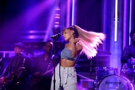 Watch Ariana Grande Perform With The Roots And Rap Nicki Minaj&#8217;s Verse On <em>The Tonight Show</em>