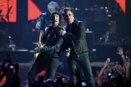 "Watch U2 Sample Donald Trump On ""Desire"" At iHeartRadio Fest"