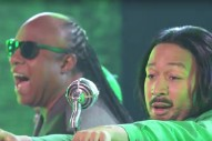 Watch John Legend &#038; Stevie Wonder Recreate OutKast&#8217;s &#8220;Hey Ya!&#8221; Video On <em>Lip Sync Battle</em>