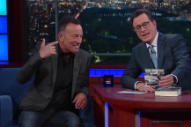 Watch Bruce Springsteen Discuss His New Memoir On <em>Colbert</em>