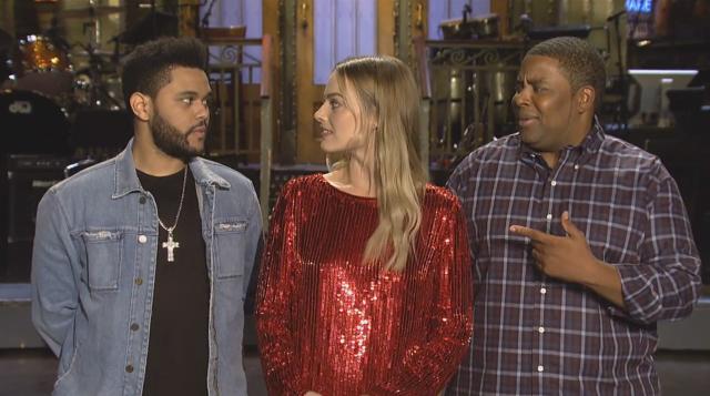 The Weeknd, Margot Robbie, & Kenan Thompson