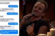 Watch Sting Sing Texts On <em>Fallon</em>
