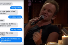 Watch Sting Sing Texts On <em>Fallon</em>