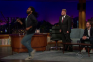 Watch Donald Glover Attempt To Sing &#8220;Kiss From A Rose,&#8221; Improv A New Song With Reggie Watts On <em>James Corden</em>