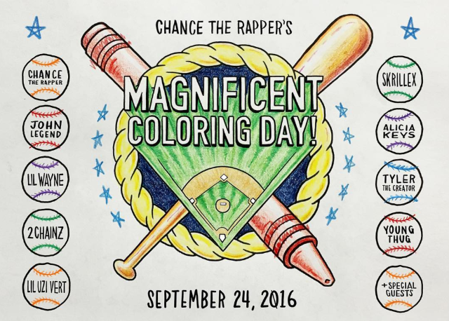 Image result for chance the rapper magnificent coloring day