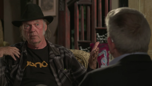 Watch A Preview Of Neil Young On <em>The Big Interview With Dan Rather</em>