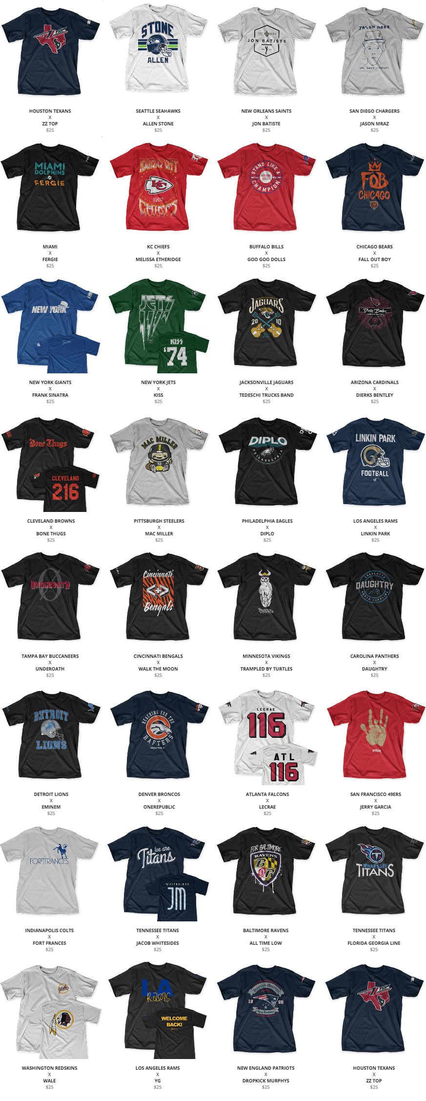 You Have Less Than Two Weeks To Buy These Dumb Nfl Band T Shirts