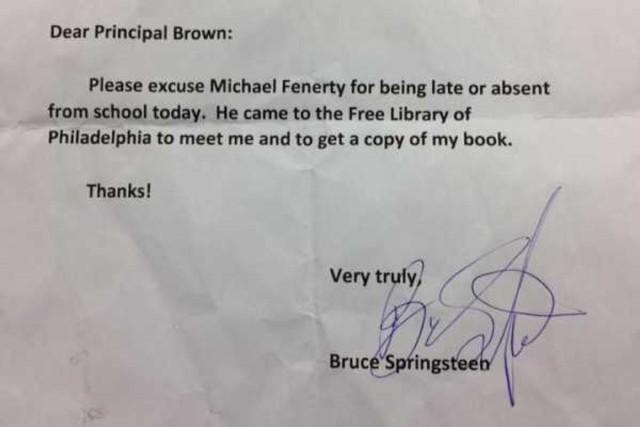 Bruce Springsteen note