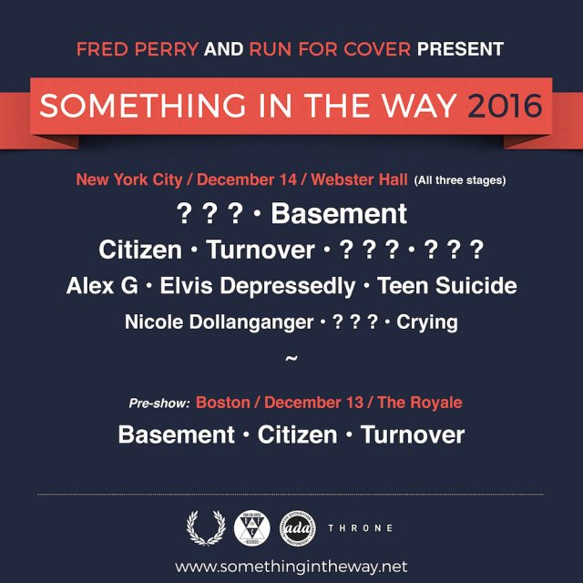 Run For Cover Records Announces Inaugural Something In The Way Fest Featuring Alex G, Elvis Depressedly, More