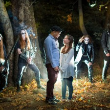 Couple In Engagement Shoot Encounters Black Metal Band