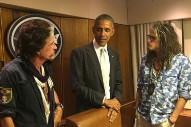 President Obama Runs Into Aerosmith, Invites Them Onto Air Force One
