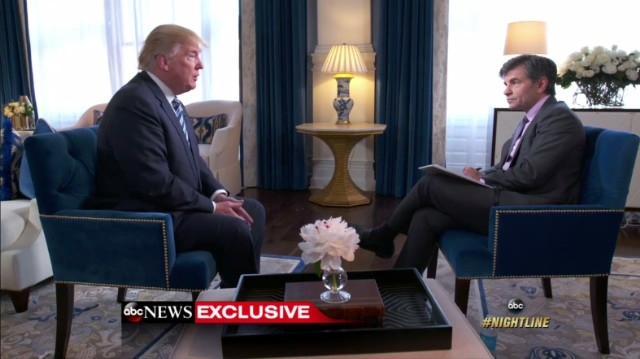 Donald Trump and George Stephanopoulos