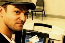 Justin Timberlake voting