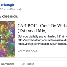 Rush Limbaugh Obsessed With Caribou, Caribou Says Fuck Off