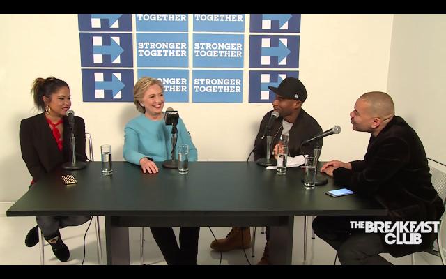 Hillary Clinton on The Breakfast Club