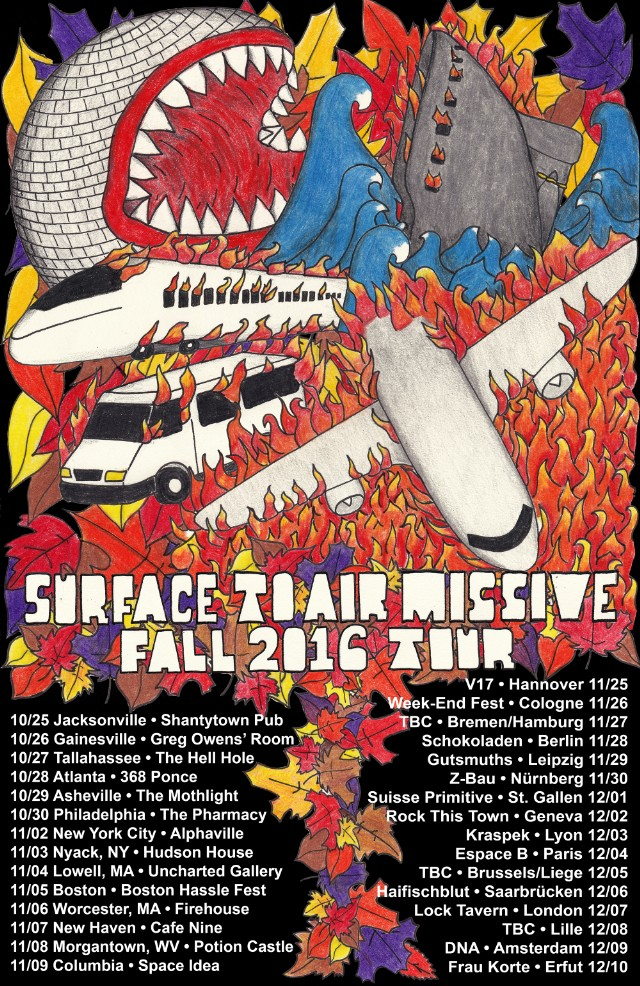Surface To Air Missive Fall Tour Poster