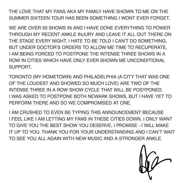 Drake Letter To Fans