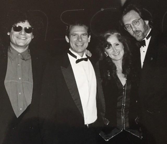 From left: Don Was, Allen Shamblin, Bonnie Raitt, and Mike Reid