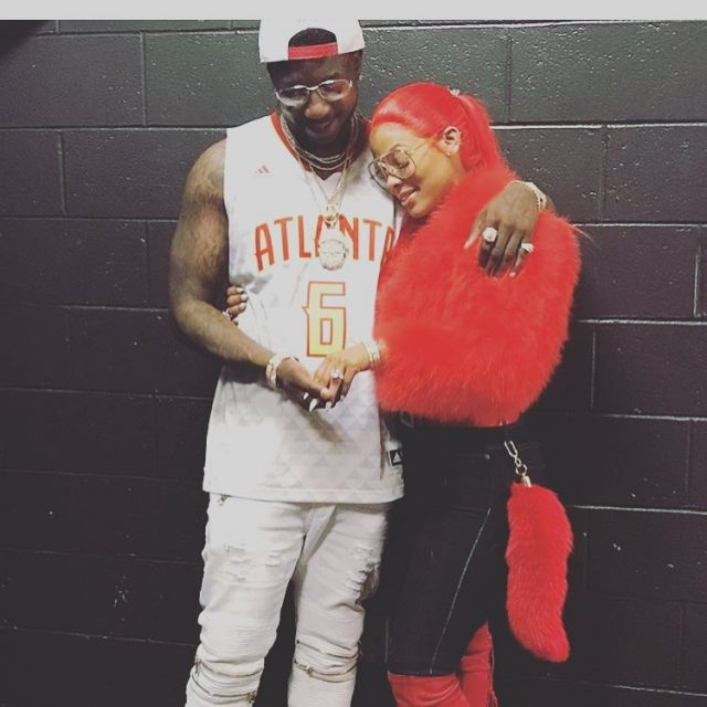 Awww Gucci Mane Just Proposed On The Hawks' Kiss Cam ...