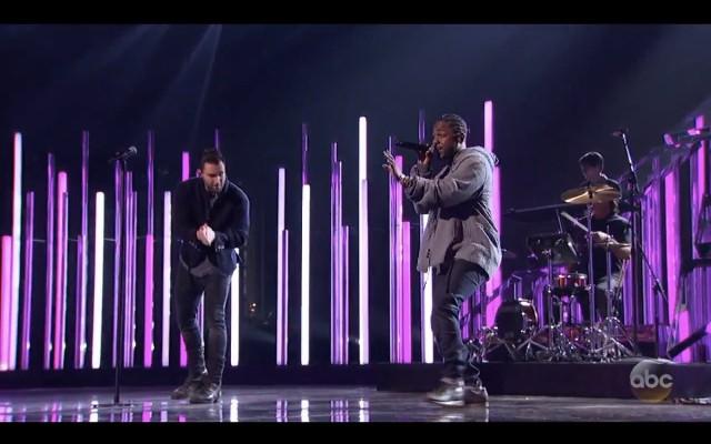 Adam Levine and Kendrick Lamar