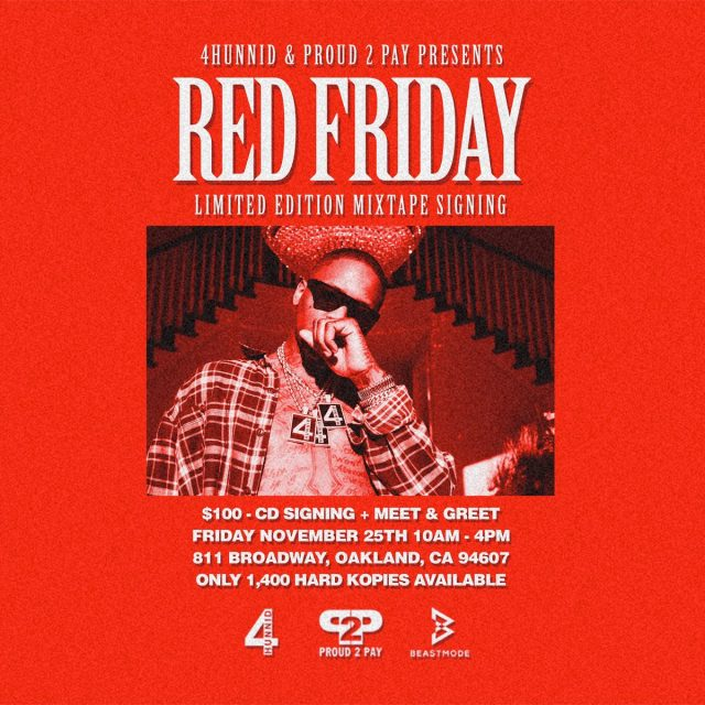 YG Will Sign $100 CDs In Oakland On Friday