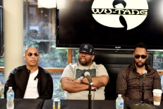 U-God (left) and RZA (right) and Raekwon of the Wu-Tang Clan