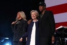 Beyoncé, Hillary Clinton, & Jay Z