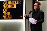"""Watch Bono Accept His """"Ridiculous"""" Glamour Woman Of The Year Award"""