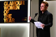 "Watch Bono Accept His ""Ridiculous"" Glamour Woman Of The Year Award"