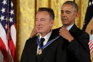 Watch Bruce Springsteen And Diana Ross Receive Presidential Medal Of Freedom, Participate In All-Star Mannequin Challenge