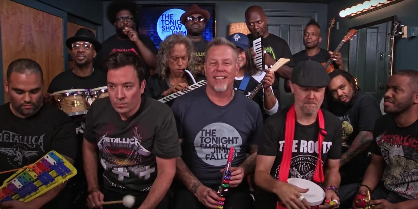 Metallica tocó Enter Sandman con instrumentos de juguete