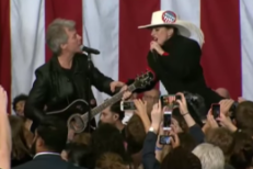 Watch Lady Gaga Duet With Jon Bon Jovi At Midnight Rally For Hillary Clinton