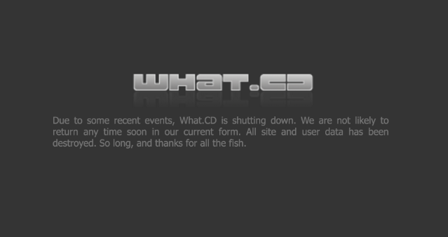 What.cd Shut Down