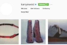 Kanye West's Instagram