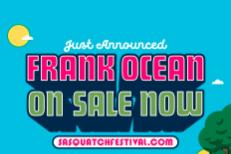 Frank Ocean Headlining Sasquatch! 2017