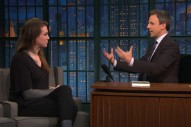 Watch Against Me! Play &#8220;333,&#8221; Laura Jane Grace Talk About Playing Squats On <em>Seth Meyers</em>