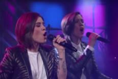 Tegan And Sara on Colbert