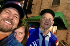 Eddie Vedder & Bill Murray Celebrate The Cubs